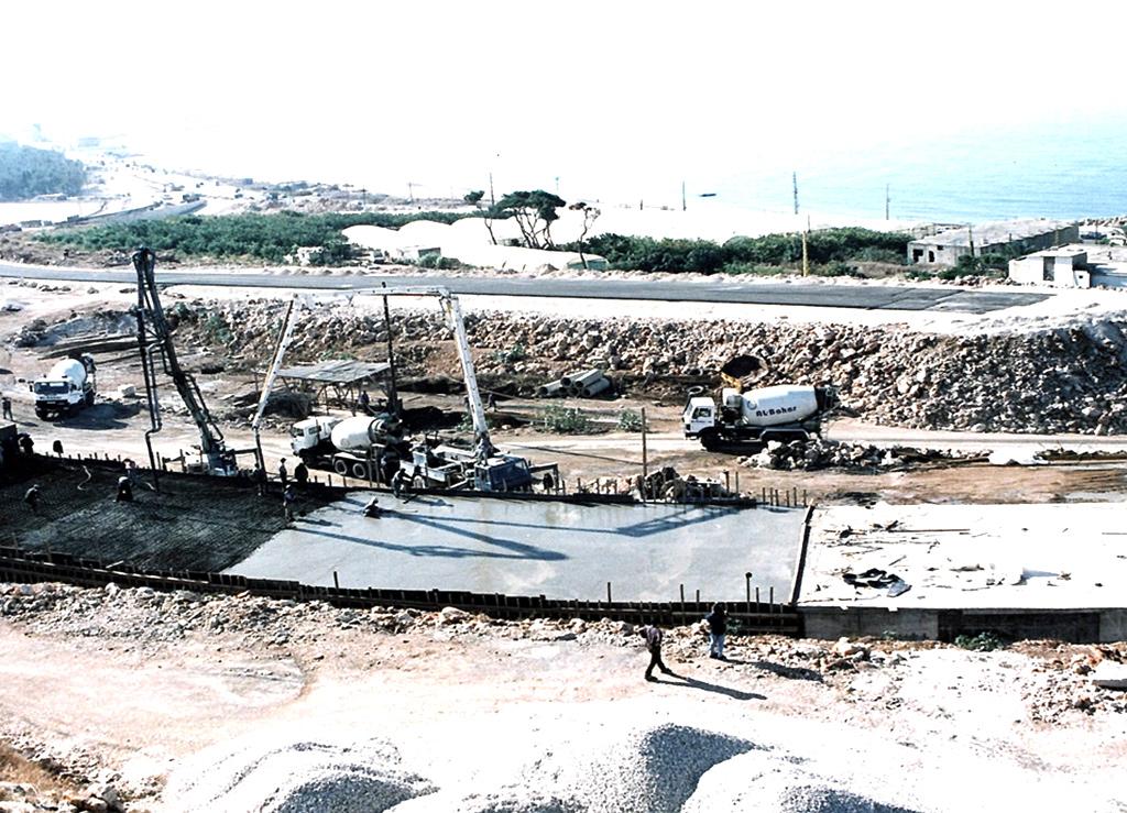 Ready-Mix Concrete Casting Rmeileh Tunnel