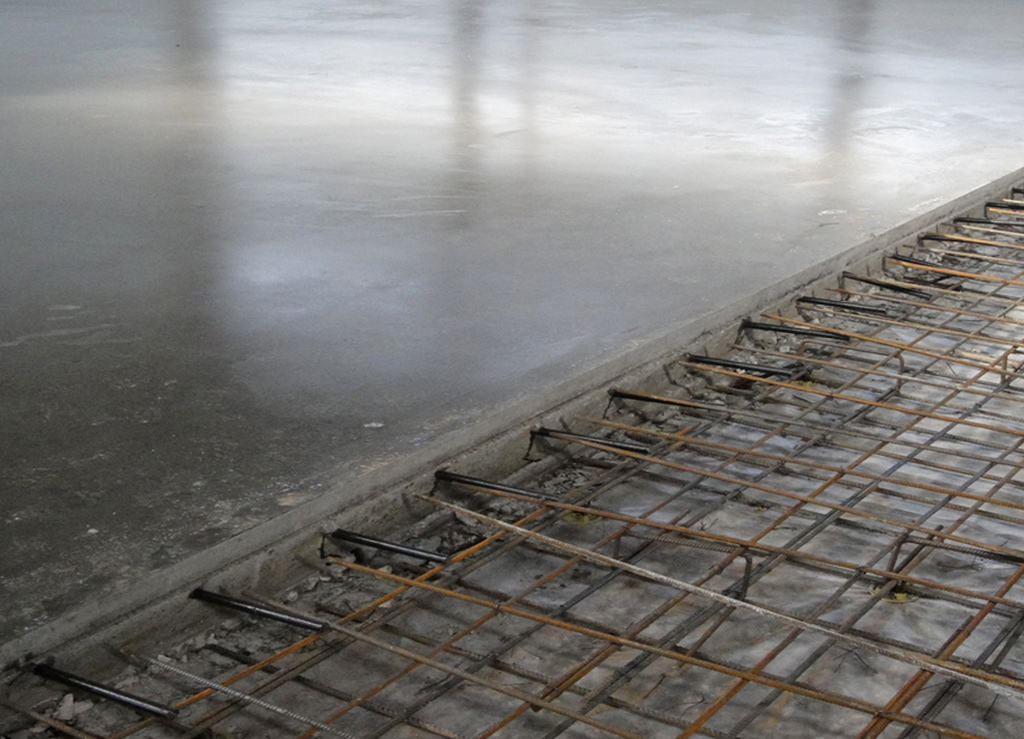Smooth Concrete in Process