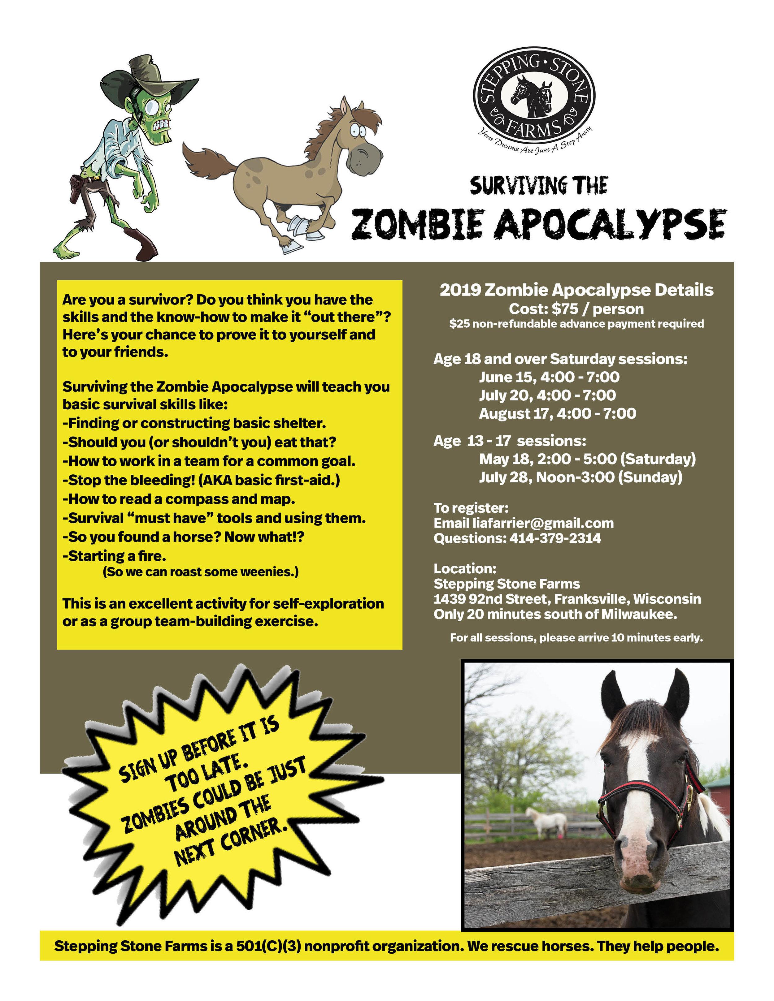 Zombie Apocalypse Flyer