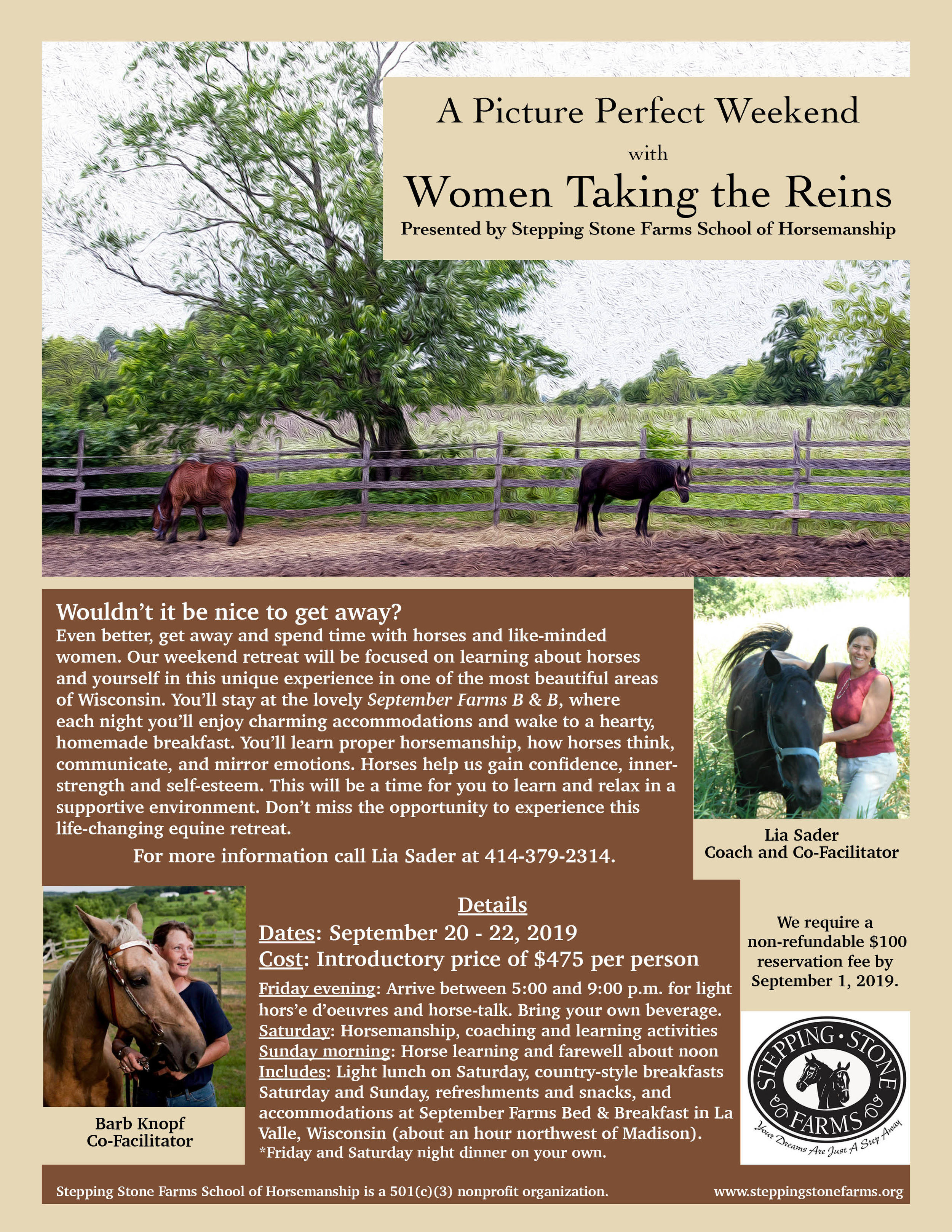 Women Taking the Reins Retreat Flyer