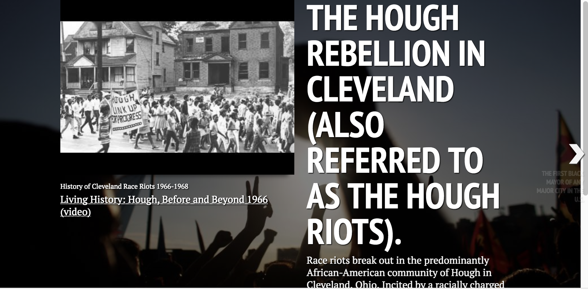 """Dispatches From Cleveland : """"Timeline of Injustice""""  A chronology of injustice from the 1960's to today covering landmark national legal cases, incidents of police violence, and national trends of discrimination against marginalized people that deeply effect the greater Cleveland area. Click here to view ."""