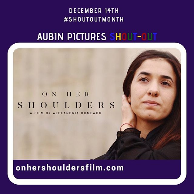 """A film we love: """"With deep compassion and a formal precision and elegance that matches Nadia Murad's calm and steely demeanor, filmmaker Alexandria Bombach follows this strong-willed young woman, who survived the 2014 genocide of the Yazidis in Northern Iraq and escaped the hands of ISIS to become a relentless beacon of hope for her people."""" by @alexandriajb ... Aubin Pictures' mission is to develop, produce and distribute cultural content that leads to social awareness and transformation. With 🗣#ShoutOutMonth🗣we hope to inspire dialogue and foster community building around the social issues that matter most to us."""
