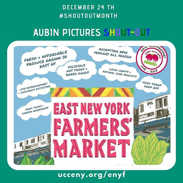 "East New York Farms' mission ""is to organize youth and adults to address food justice in our community by promoting local sustainable agriculture and community-led economic development."" Check out their work on https://ucceny.org/enyf/! East New York Farms! … Aubin Pictures' mission is to develop, produce and distribute cultural content that leads to social awareness and transformation. With 🗣#ShoutOutMonth🗣 we hope to inspire dialogue and foster community building around the social issues that matter most to us."