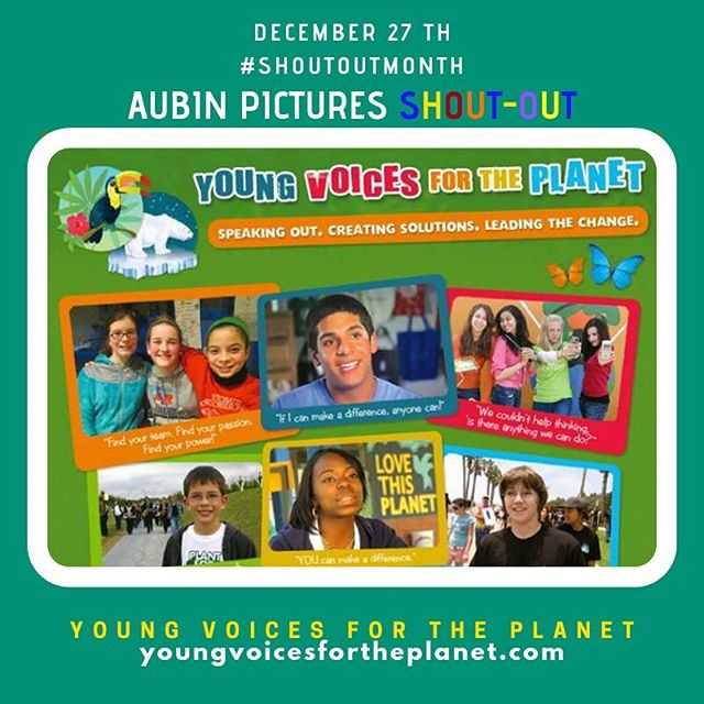 The mission of the Young Voices for the Planet film series is to to limit the magnitude of climate change and its impacts by empowering children and youth, through uplifting and inspiring success stories, to take an essential role in informing their communities — and society at large, challenging decision-makers, and catalyzing change.  #ClimateChange #KidsEducation #Community #EnvironmentalScience #EnvironmentalJustice #ClimateJustice #KidLeaders #YoungVoicesForThePlanet … Aubin Pictures' mission is to develop, produce and distribute cultural content that leads to social awareness and transformation. With 🗣#ShoutOutMonth🗣 we hope to inspire dialogue and foster community building around the social issues that matter most to us.