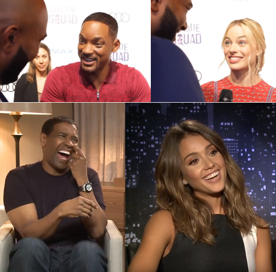 Video Interviews with Folks named will, denzel, kermit, cube, kumail, alba, willis, hopkins, mirren, margot, ruffalo, adams and so on ... -