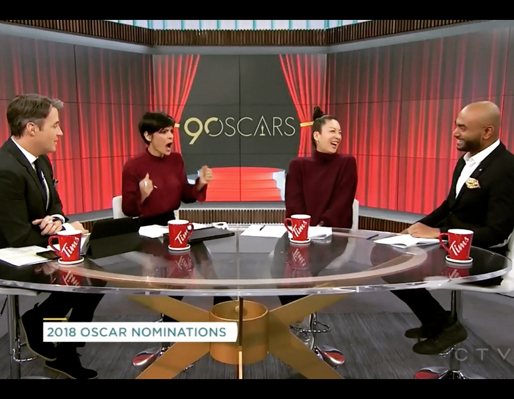 january 24, 2018  Breaking down the oscar nominees  - Joining Ben Mulroney, Anne-Marie Mediwake & Lainey Lui to bring you the Oscar nominees and breakdown the surprises.