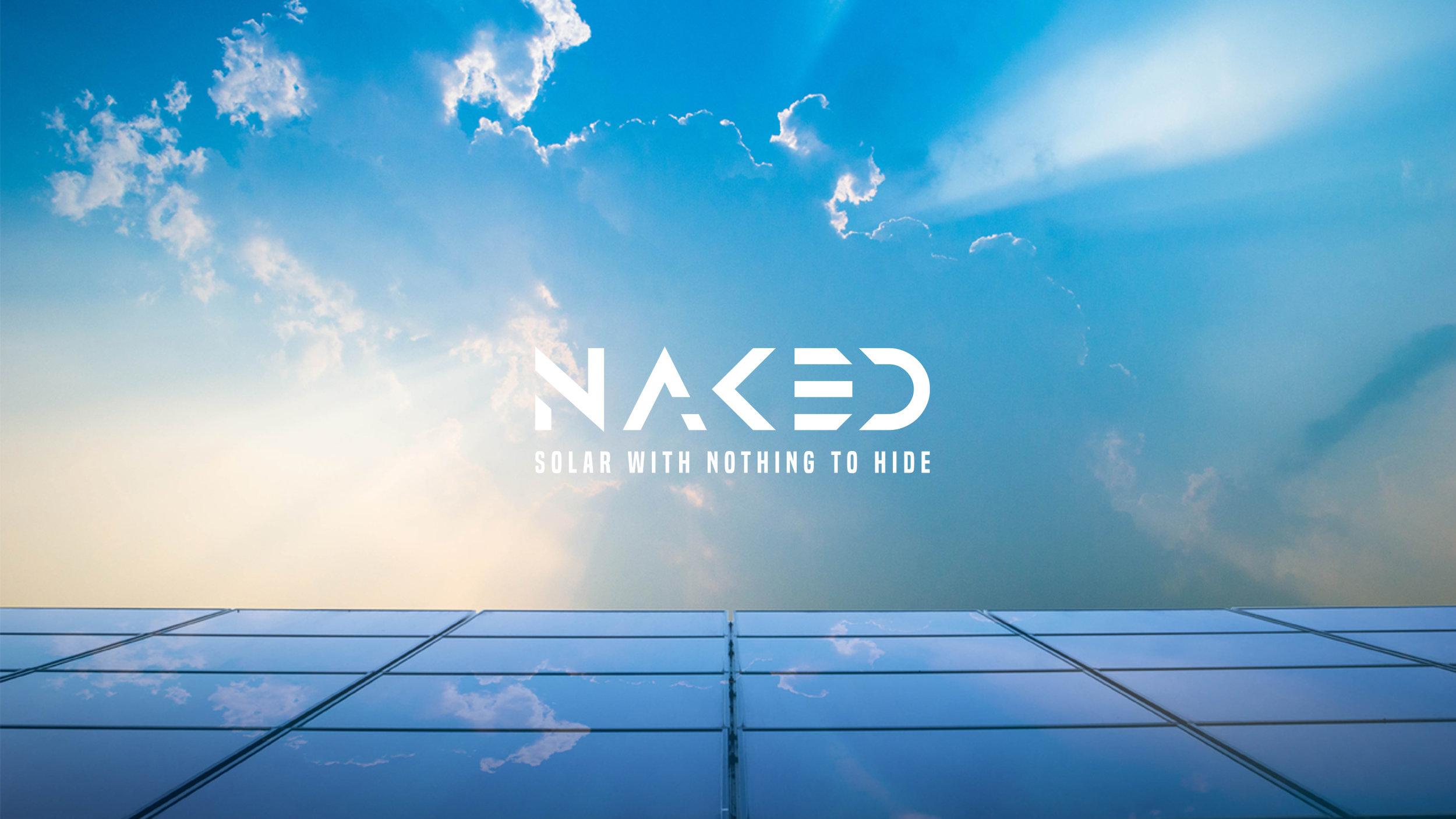 naked solar logo and brand image