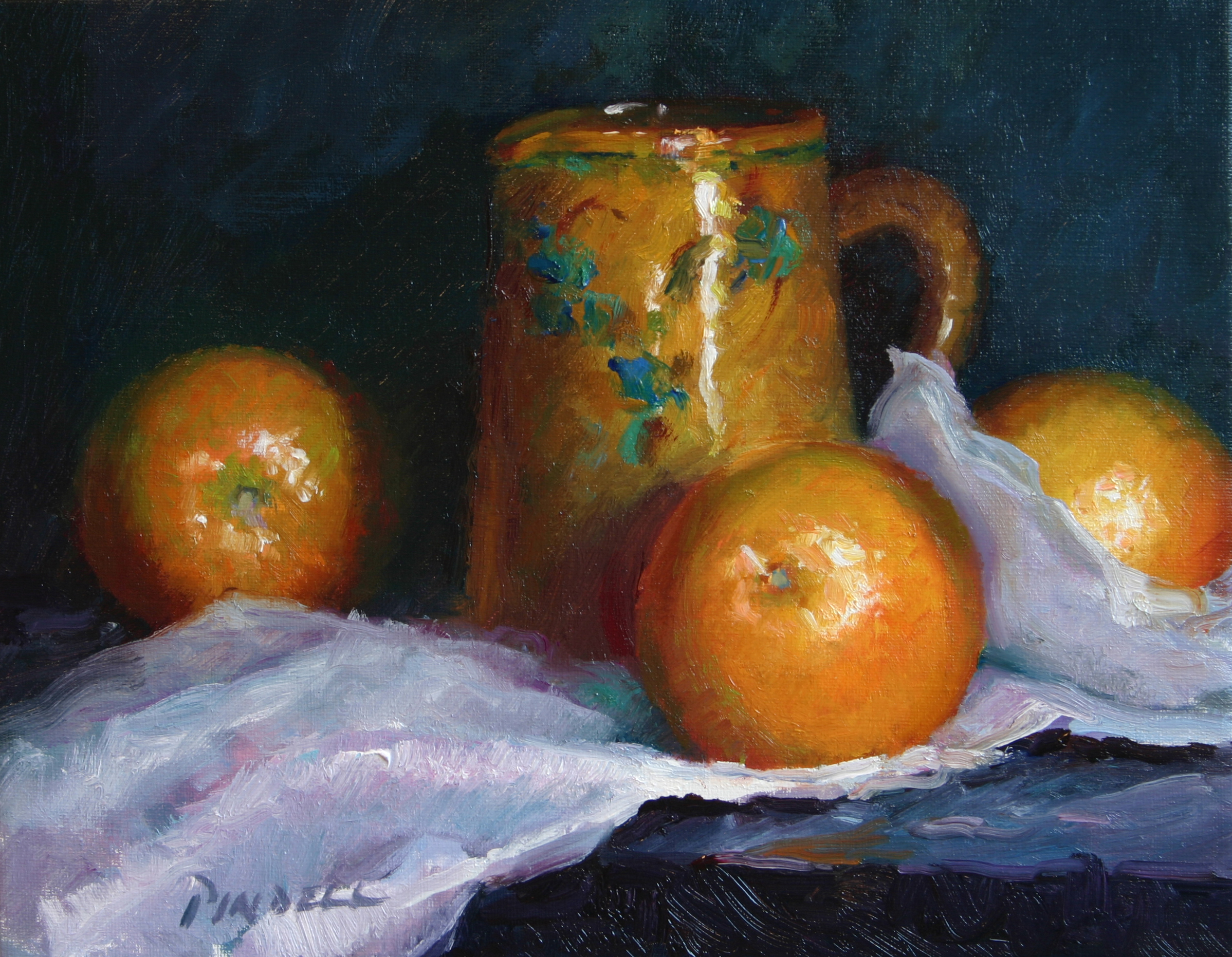 Grapefruit with a French Pot