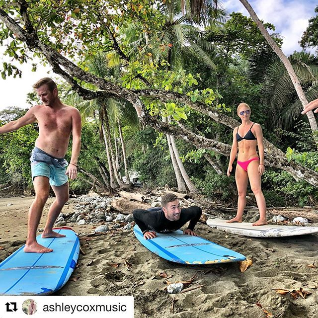 #Repost @ashleycoxmusic with @get_repost ・・・ What happens when you bring #yogis to the beach and give them a surfboard? #balance #corestrength and #courage get fueled THANK YOU 🙏🏼 to the great instructors at @pollosurfschool for showing us the way 🤙🏼