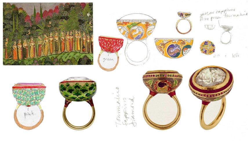 Rings and sketches by    Alice Cicolini