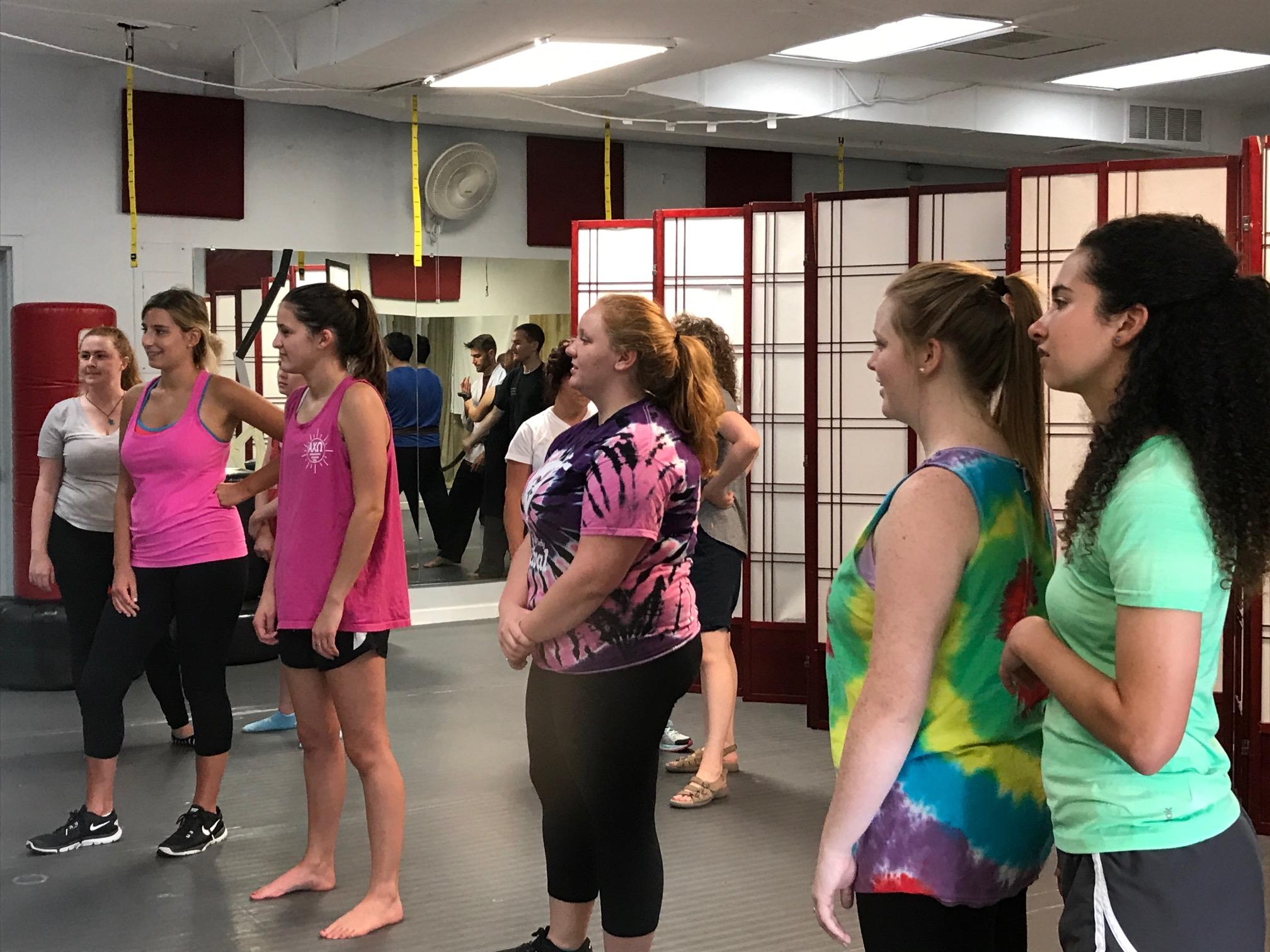 2017 Teachers taking a free self-defense class at St. Matthews Martial Arts.