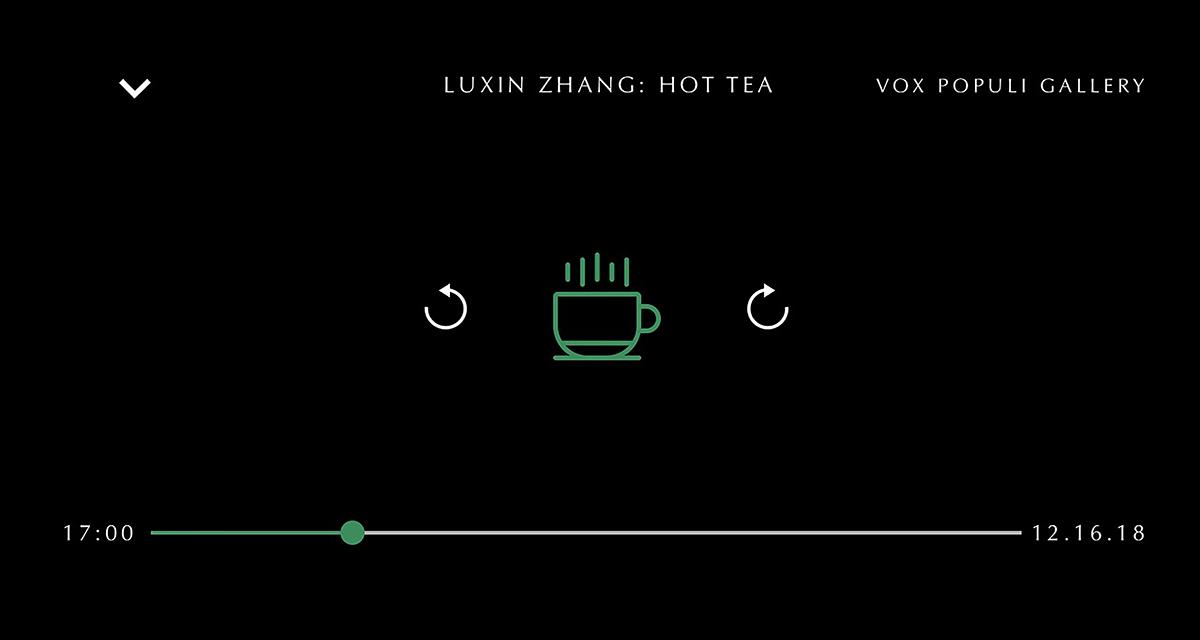 Luxin Zhang: hot Tea   2018.12.16  5pm-7pm  Vox Populi Gallery. Philadelphia, PA