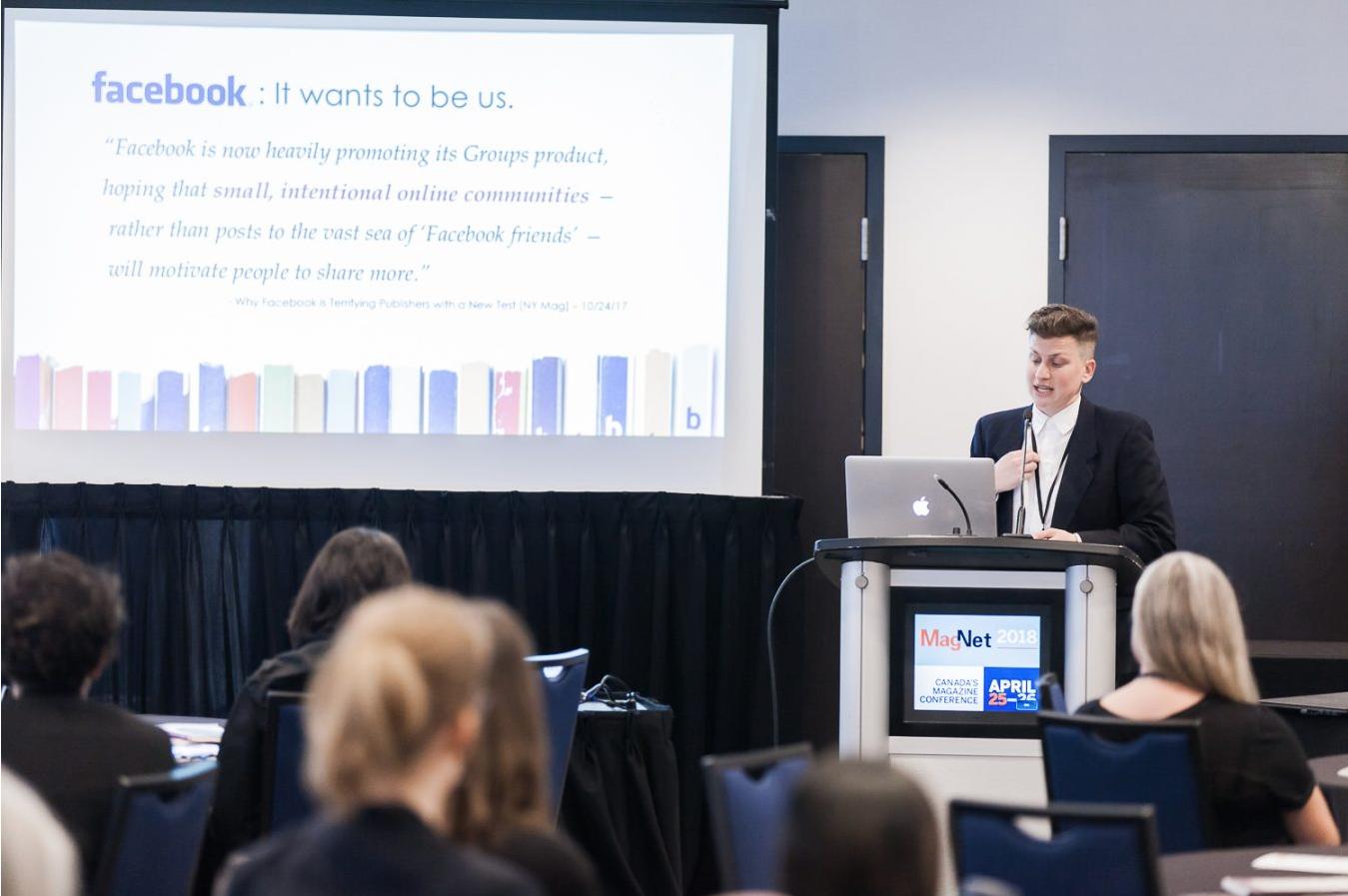 April 2018 Keynote at Magazines Canada in Toronto, Ontario.
