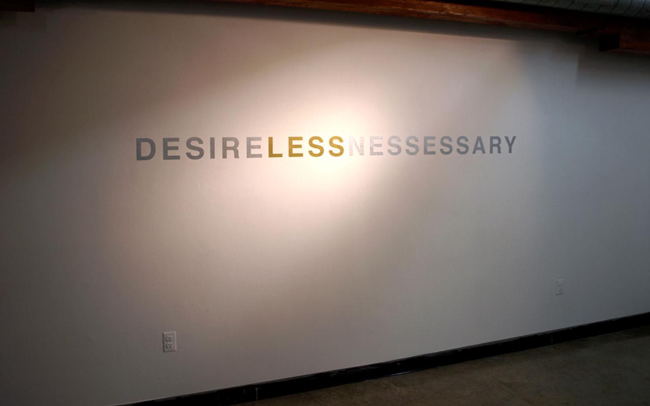 Desirelessnessary