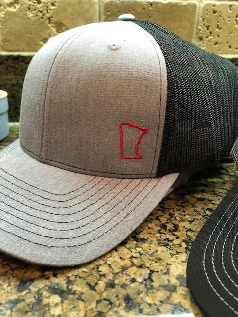 Grey red MN outline hat.jpg