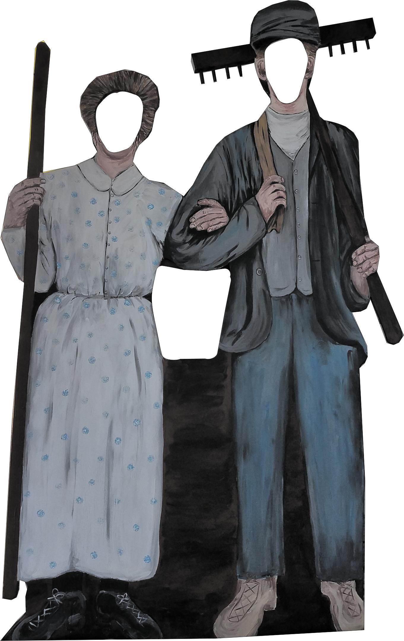 Elderly farming couple