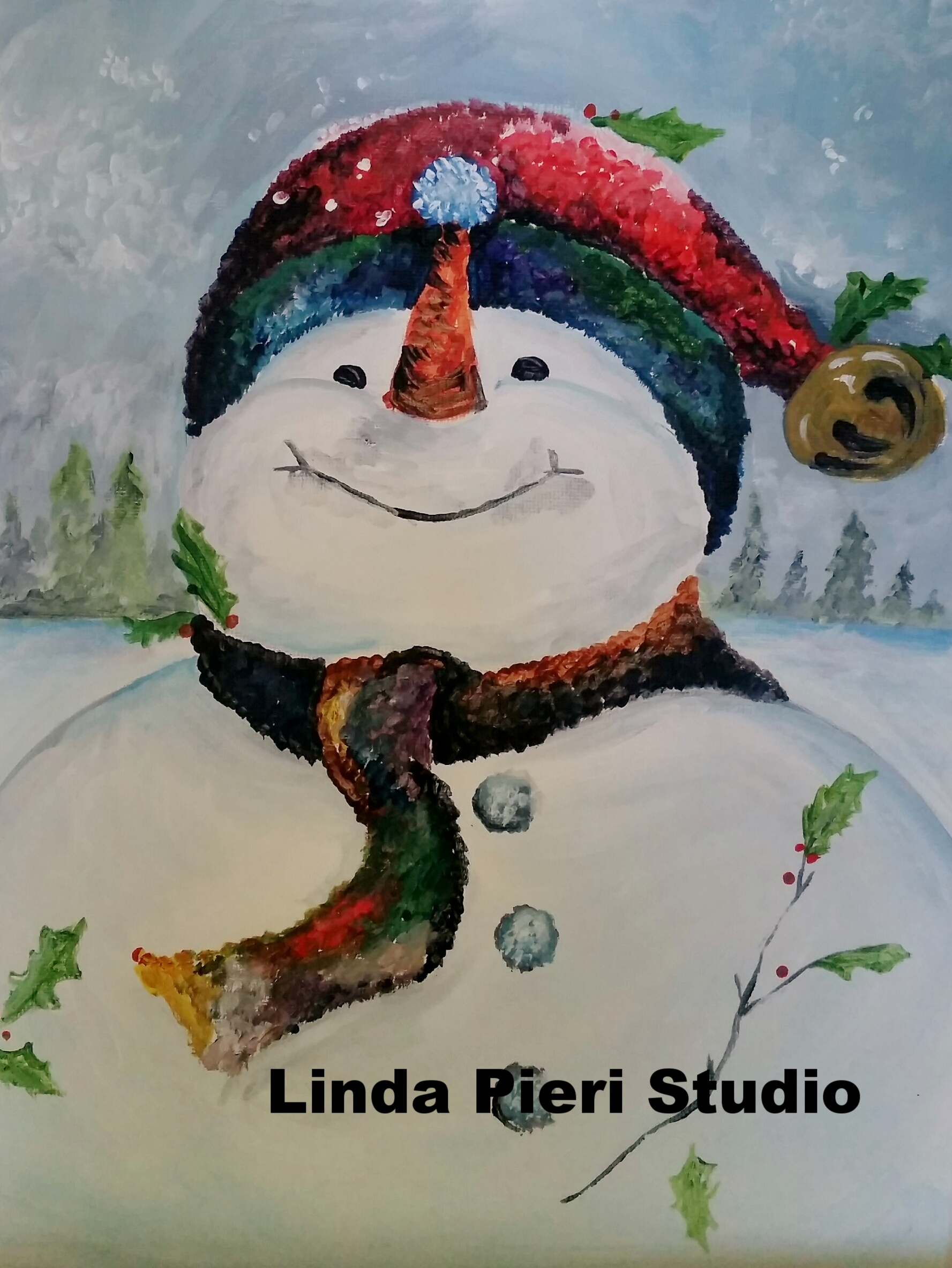 Snowman with bell (L1)