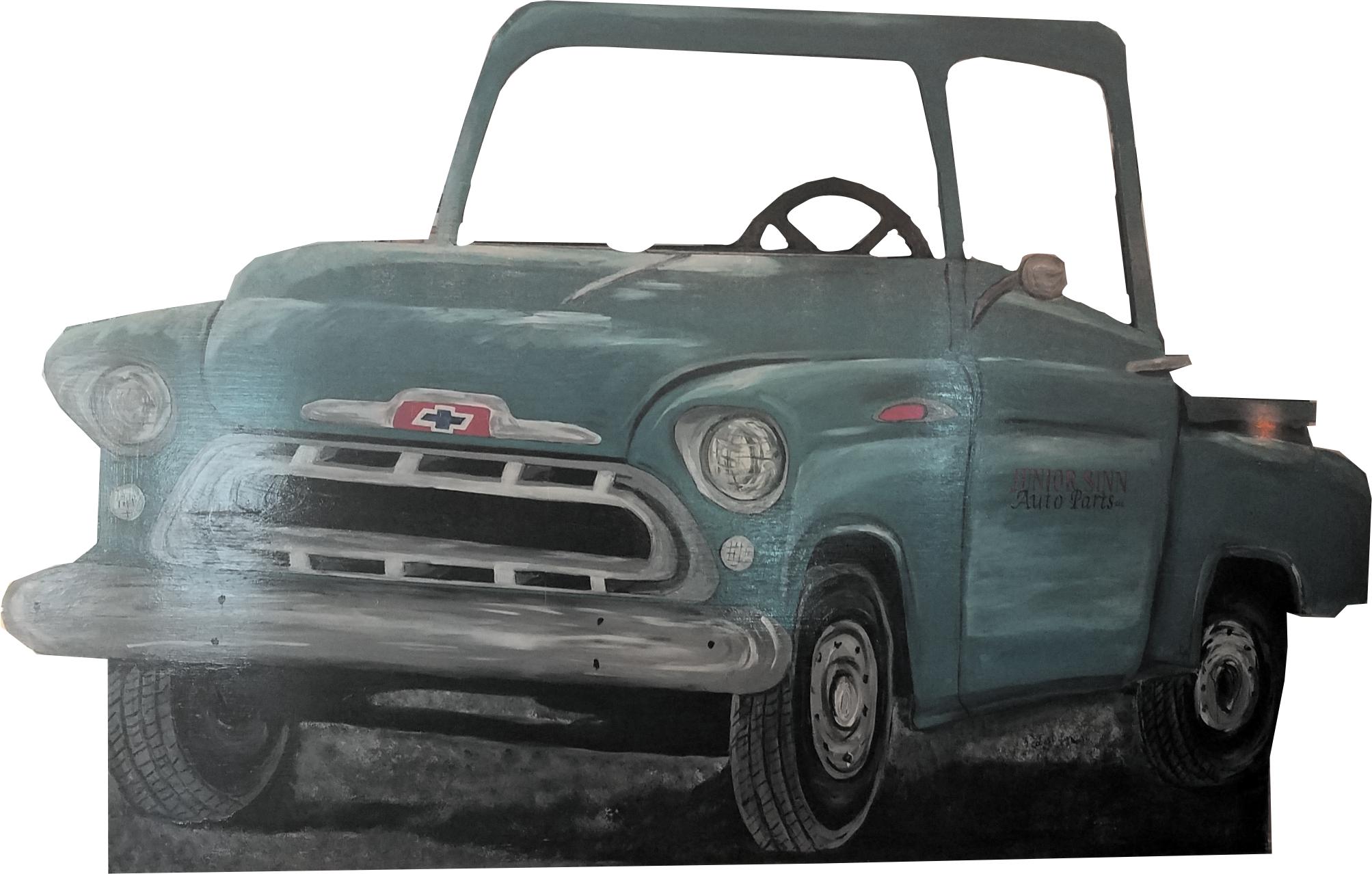 1955 Ocean Green Chevy Pickup