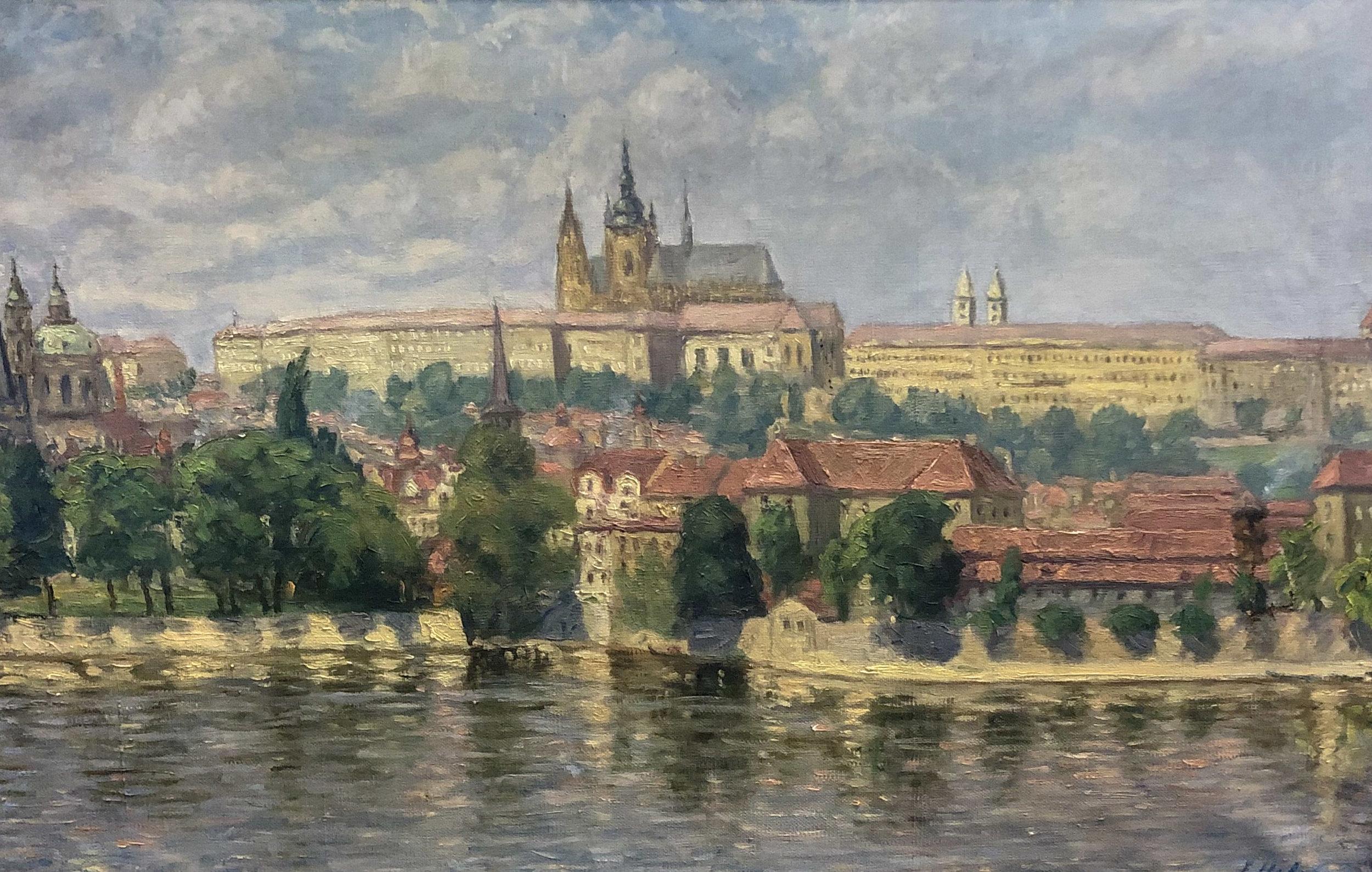 Prague Castle and River
