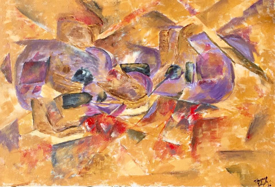 Cubist Still life - Acrylic on Canvas