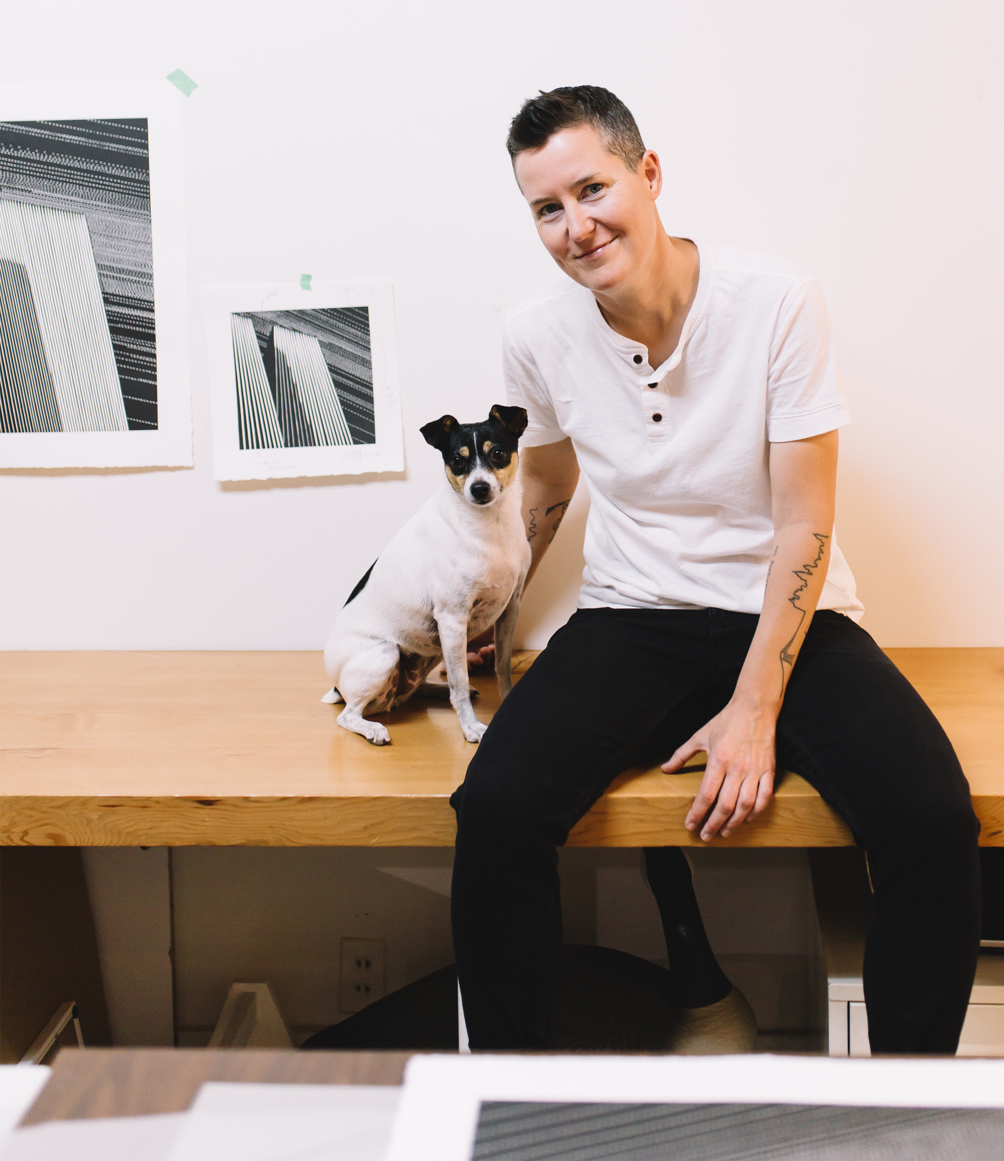 Kari Kristensen and Studio Dog Frida.jpg