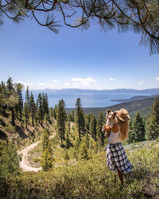 "There's something super special about the moment where Lake Tahoe first pops into your view as you come over the pass. I remember the first time I drove over Mount Rose Summit... ⠀⠀⠀⠀⠀⠀⠀⠀⠀ I was arriving for my first week of college at Sierra Nevada College in Incline Village, NV. I had come straight from 3 weeks of snowboard training in New Zealand and was on a random bus from the airport all by myself. I didn't know anyone here yet and I was equal parts excited and nervous. ⠀⠀⠀⠀⠀⠀⠀⠀⠀ When the lake first popped into view my heart nearly exploded. I didn't know it yet but this lake would be my new home for the next 6 years. It would shape me into the women I am today. It would convert me from ""Arielle the snowboarder"" to the lover of outdoor adventure I am now. ⠀⠀⠀⠀⠀⠀⠀⠀⠀ I didn't know any of this that first day... All I saw when I looked out was possibility. All the possible adventures.. memories... friends... It's funny, even after all those years... no matter how many times I come back to visit... the first glimpse of the lake is special... ⠀⠀⠀⠀⠀⠀⠀⠀⠀ Lake Tahoe is truly magical. If you've been here you know what I mean and if you haven't yet... we'll if you haven't yet then I highly recommend you check it out for yourself! @renotahoe #renotahoe ⠀⠀⠀⠀⠀⠀⠀⠀⠀ Photo by @photograferg"