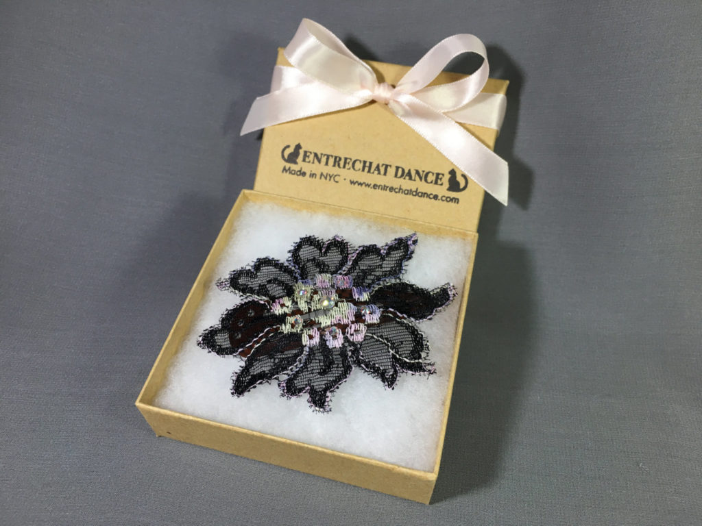 Pretty Lace Hair Clips by Entrechat Dance, Embellished with Swarovski® Crystals.