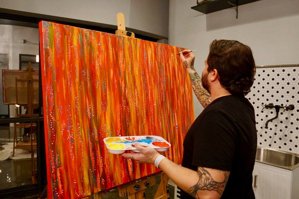 Live art performed by Zac Franzoni.