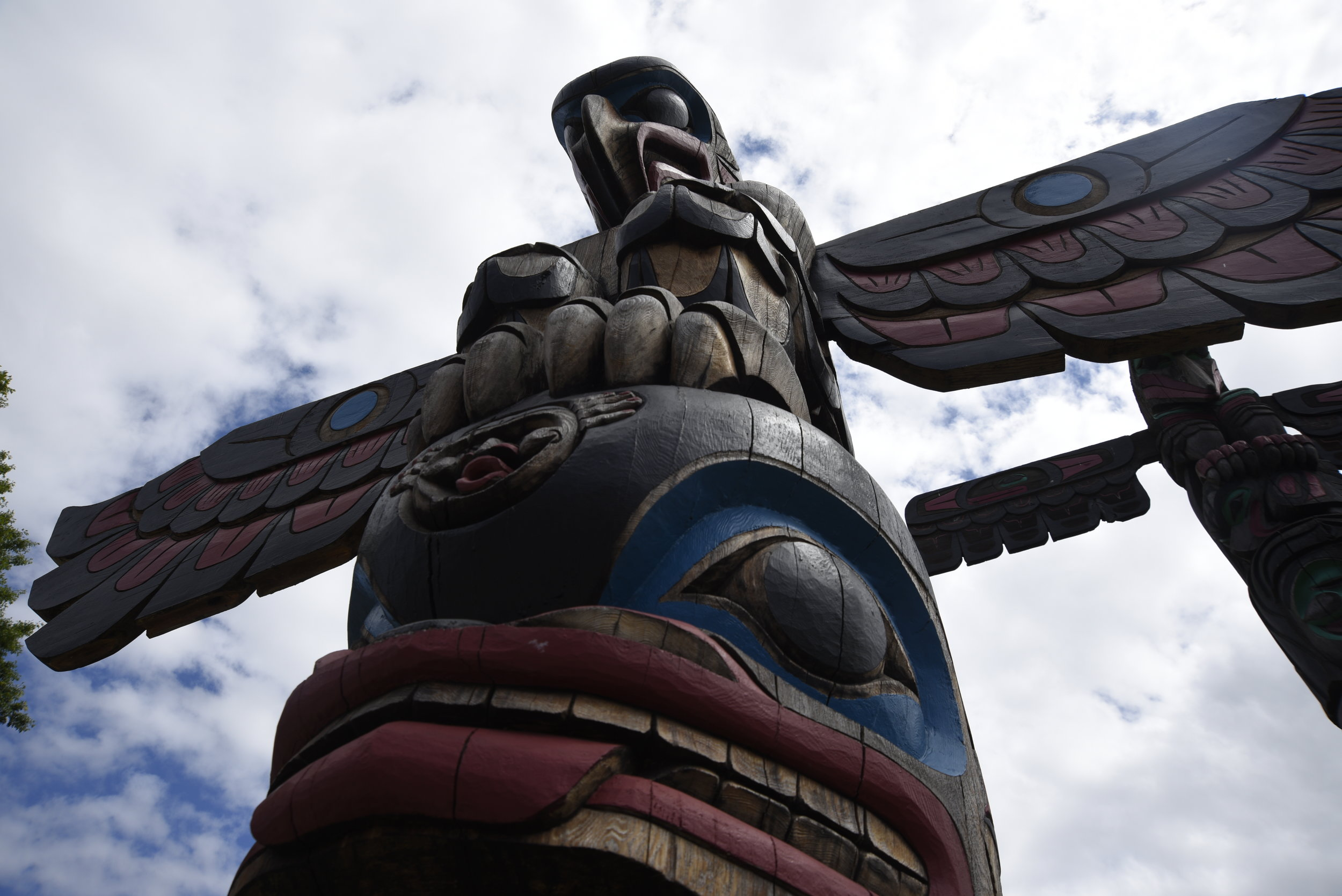Totem Poles at Duncan, Vancouver Island.
