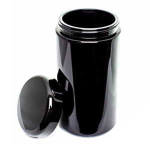ultravioLeaf Storage Container Airtight Smell Proof Black Ultraviolet Glass Screw Top