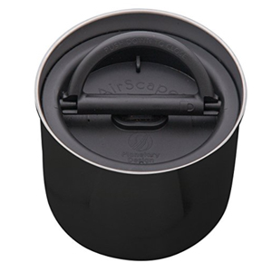 Airscape Canister Preserves Food Freshness - Stainless Steel - Obsidian Black