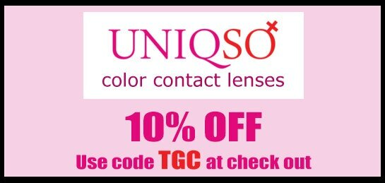 Click image to shop at Uniqso's Color Contact Lenses & don't forget to use the code to get 10% off your order: TGC