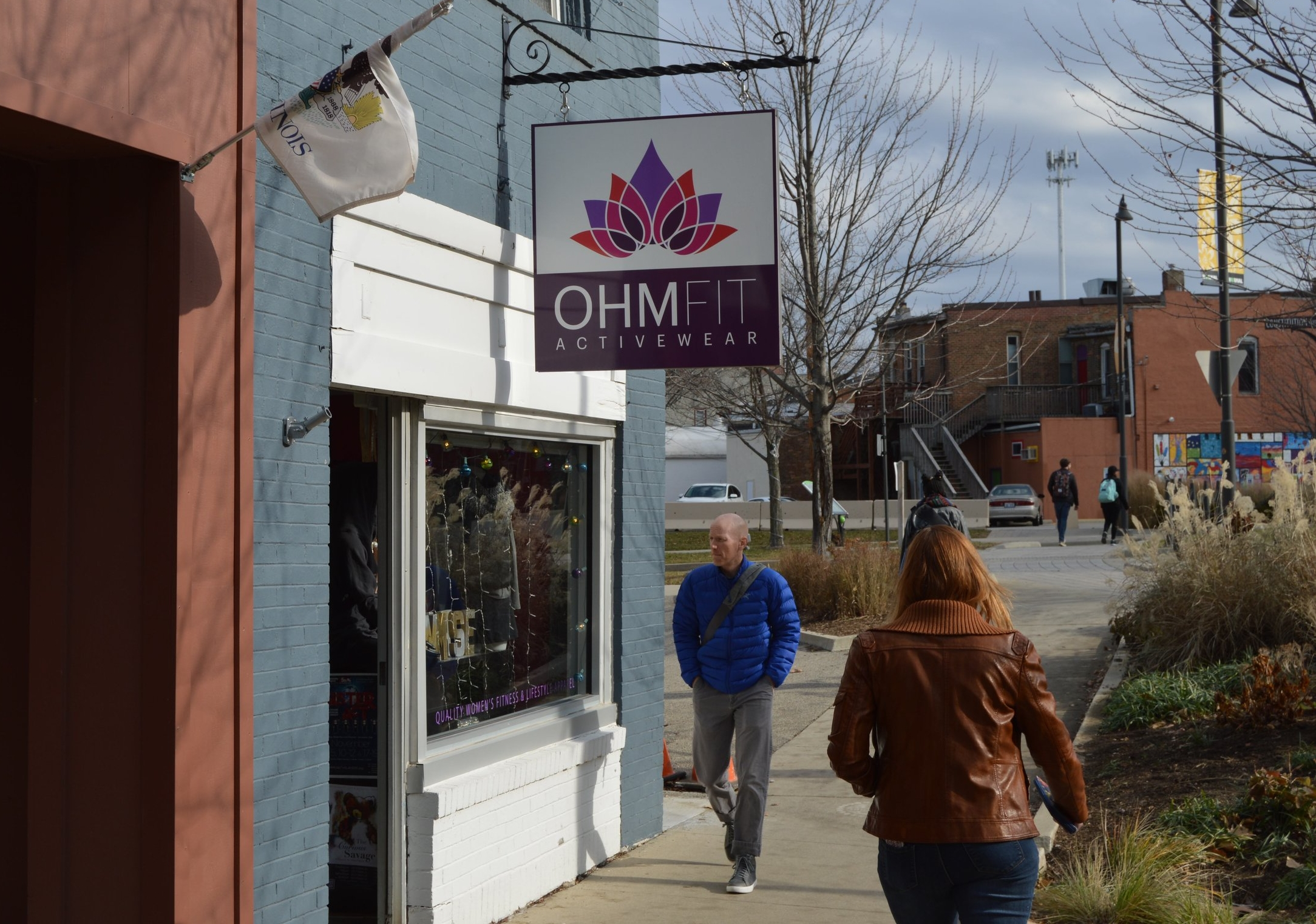 Young's OhmFit retail store receives a lot of foot traffic in her prime location in Uptown Normal - (Christian Prenzler for AdaptBN)