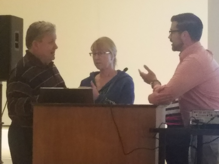 From left to right: Alderman Sage, Alderwoman Schmidt, Alderman Black (Krystle Dickerson for AdaptBN)