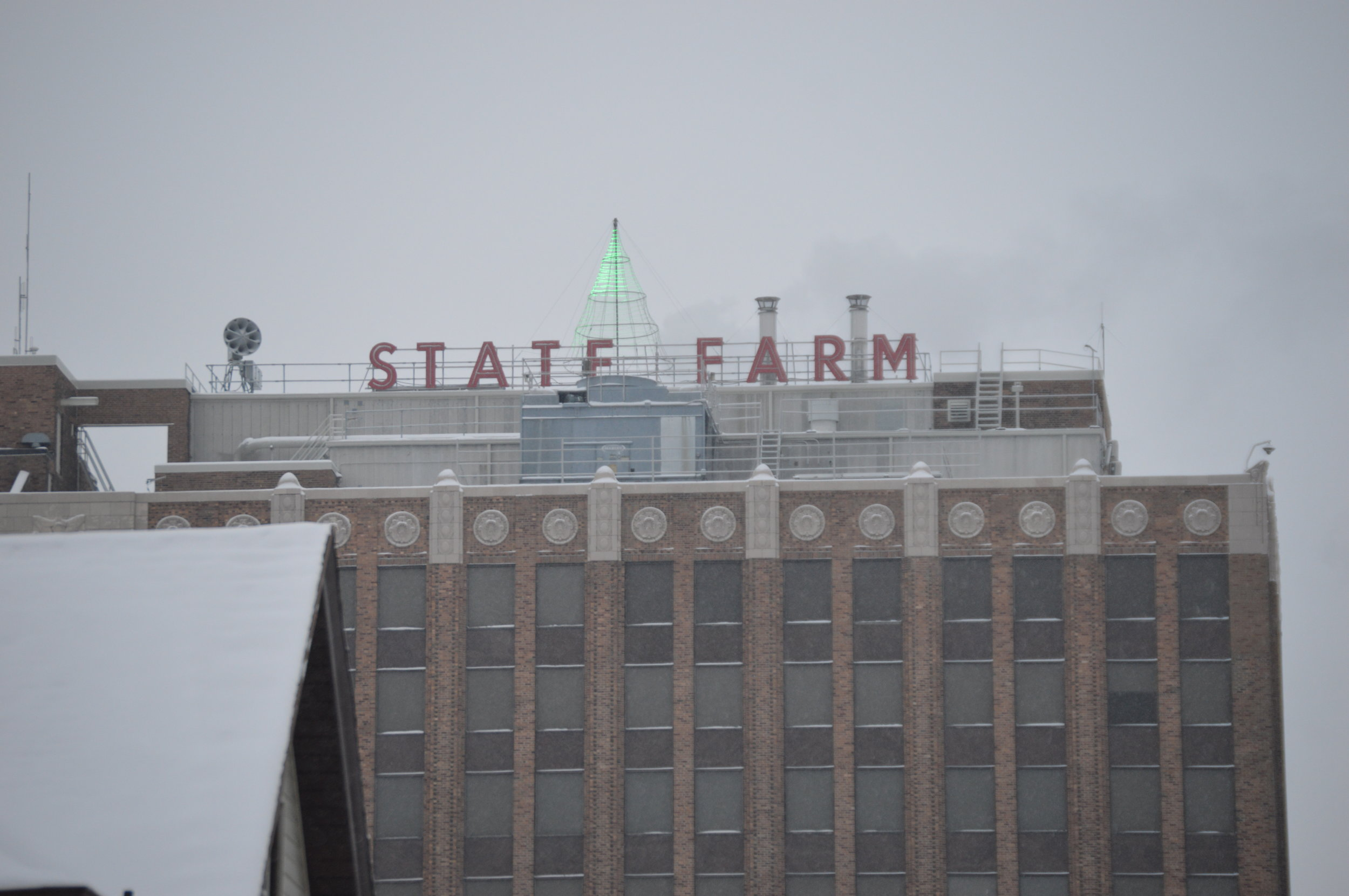 State Farm will close the building at the end of the month. -