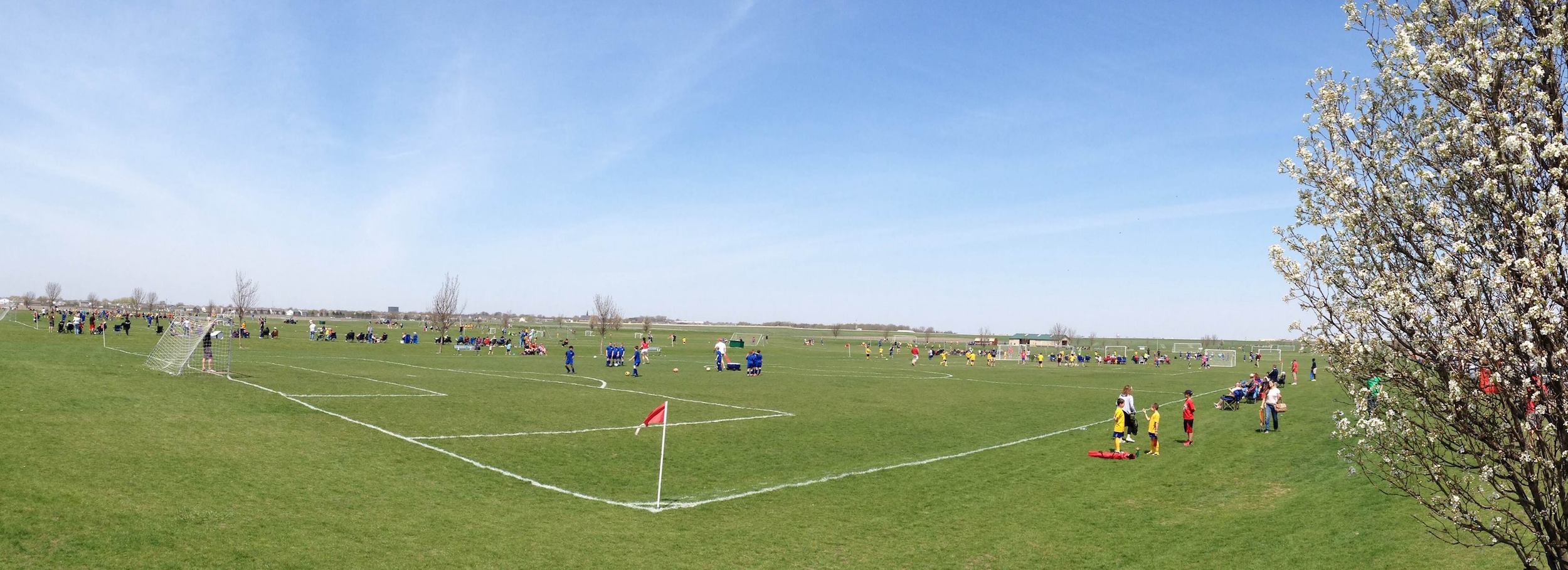The Prairie Community Soccer League is in charge of operating the current sports complex at Bloomington's Central Illinois Regional Airport, where several local sports leagues regularly hold practices and games. (Image credit: PCSL Facebook)