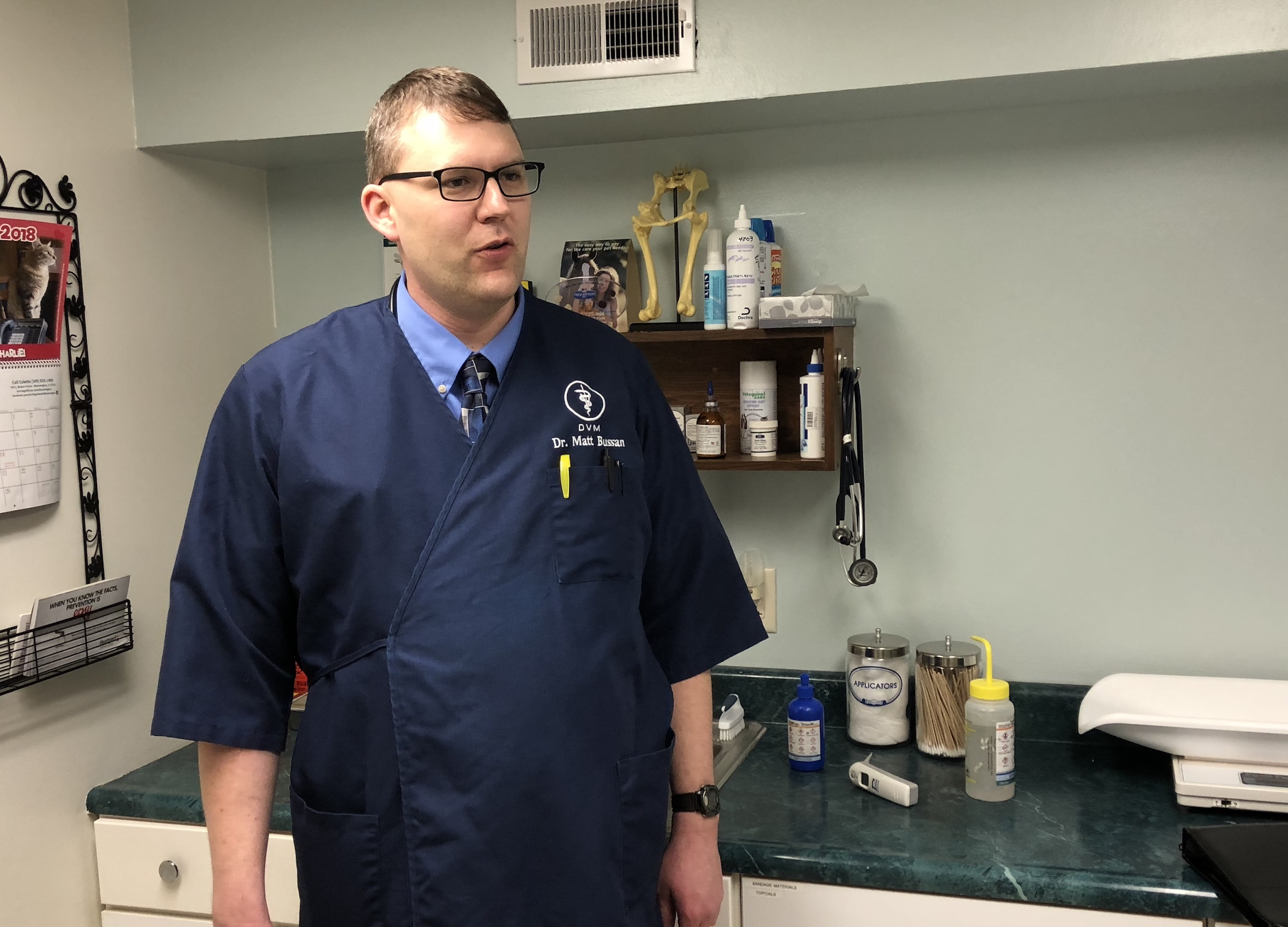 Town & Country veterinarian Matt Bussan graduated from the University of Illinois College of Veterinary Medicine in 2004.
