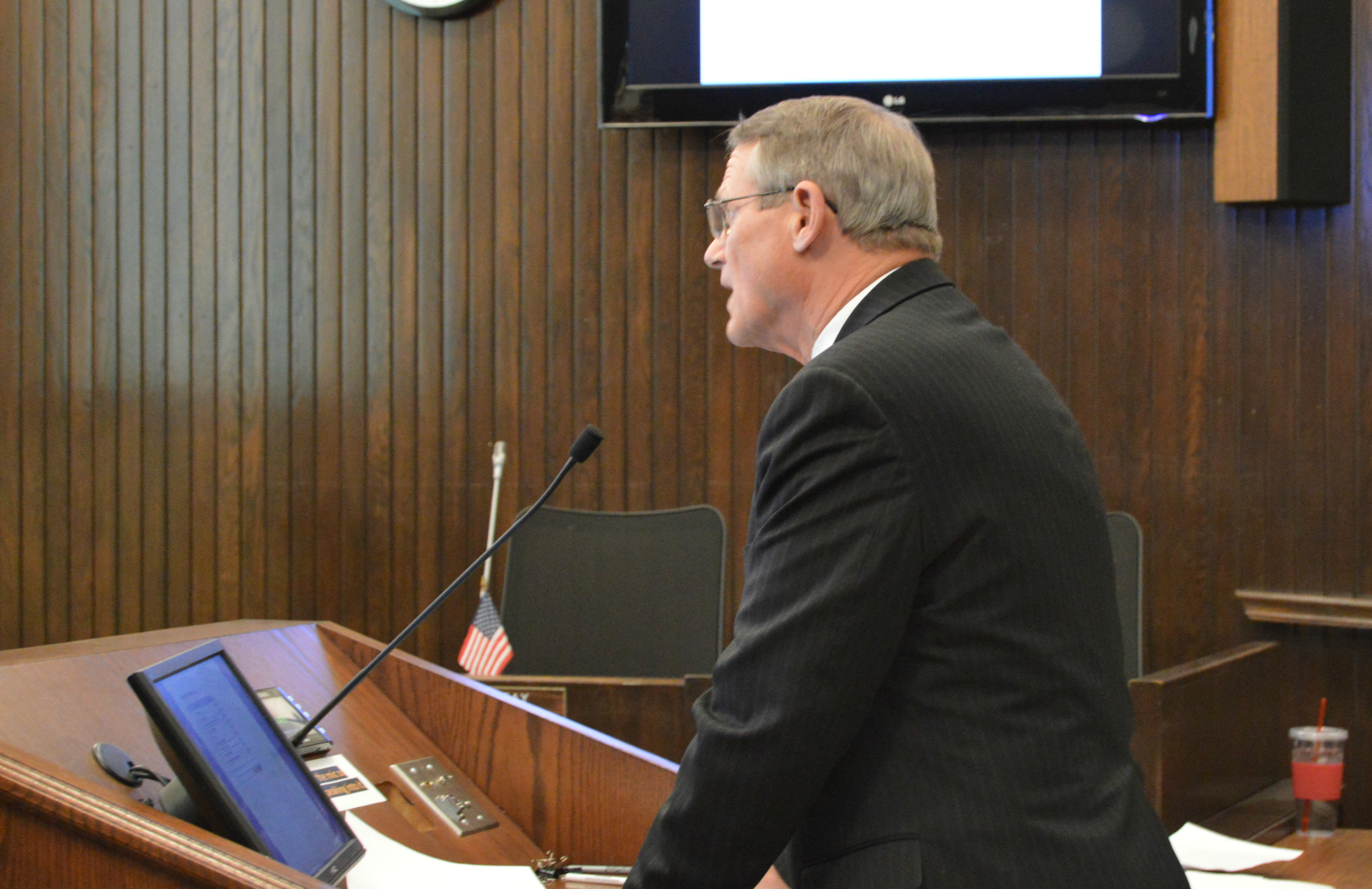 Interim City Manager Steve Rasmussen presented his proposed balanced City budget to Council members for further direction Monday night.