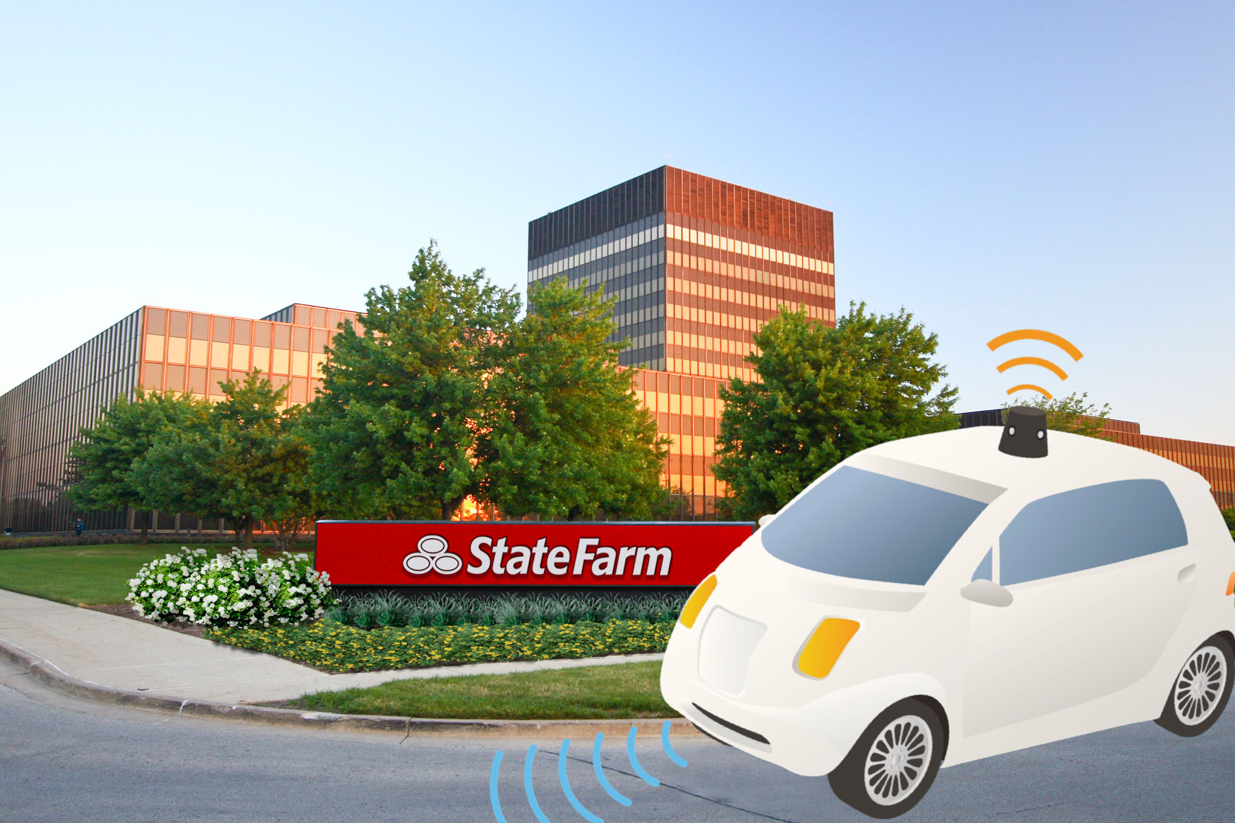 As Self-Driving Technology Approaches, Bloomington-Normal Can Shape State Farm's Next 100 Years -
