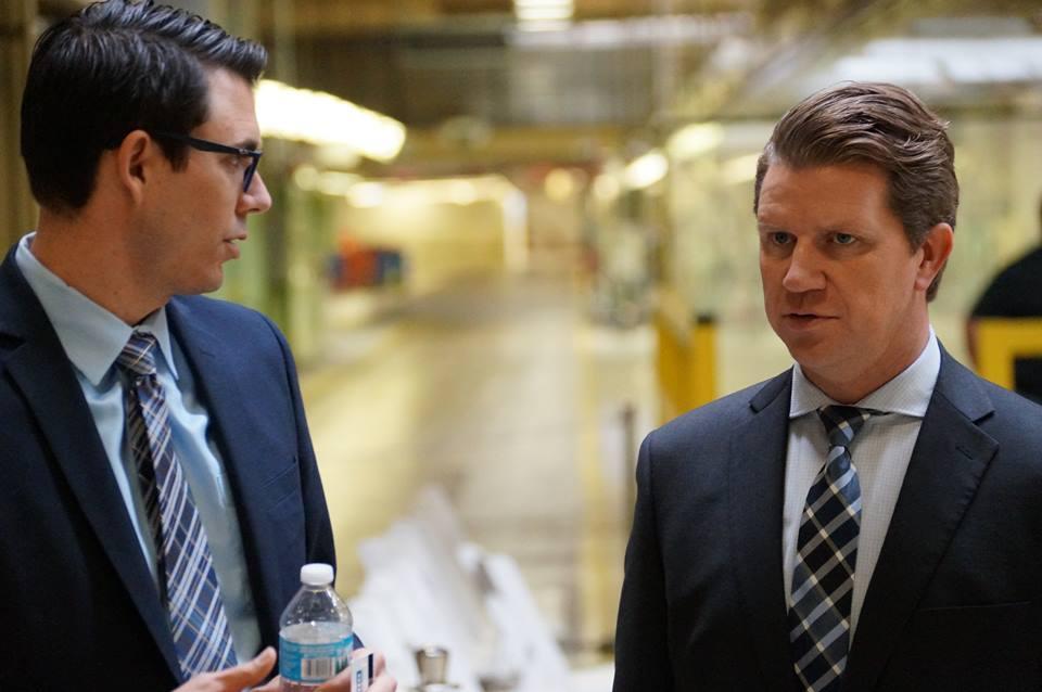 EDC CEO Kyle Ham (Right) with Rivian CEO RJ Scaringe (Left) Credit: EDC