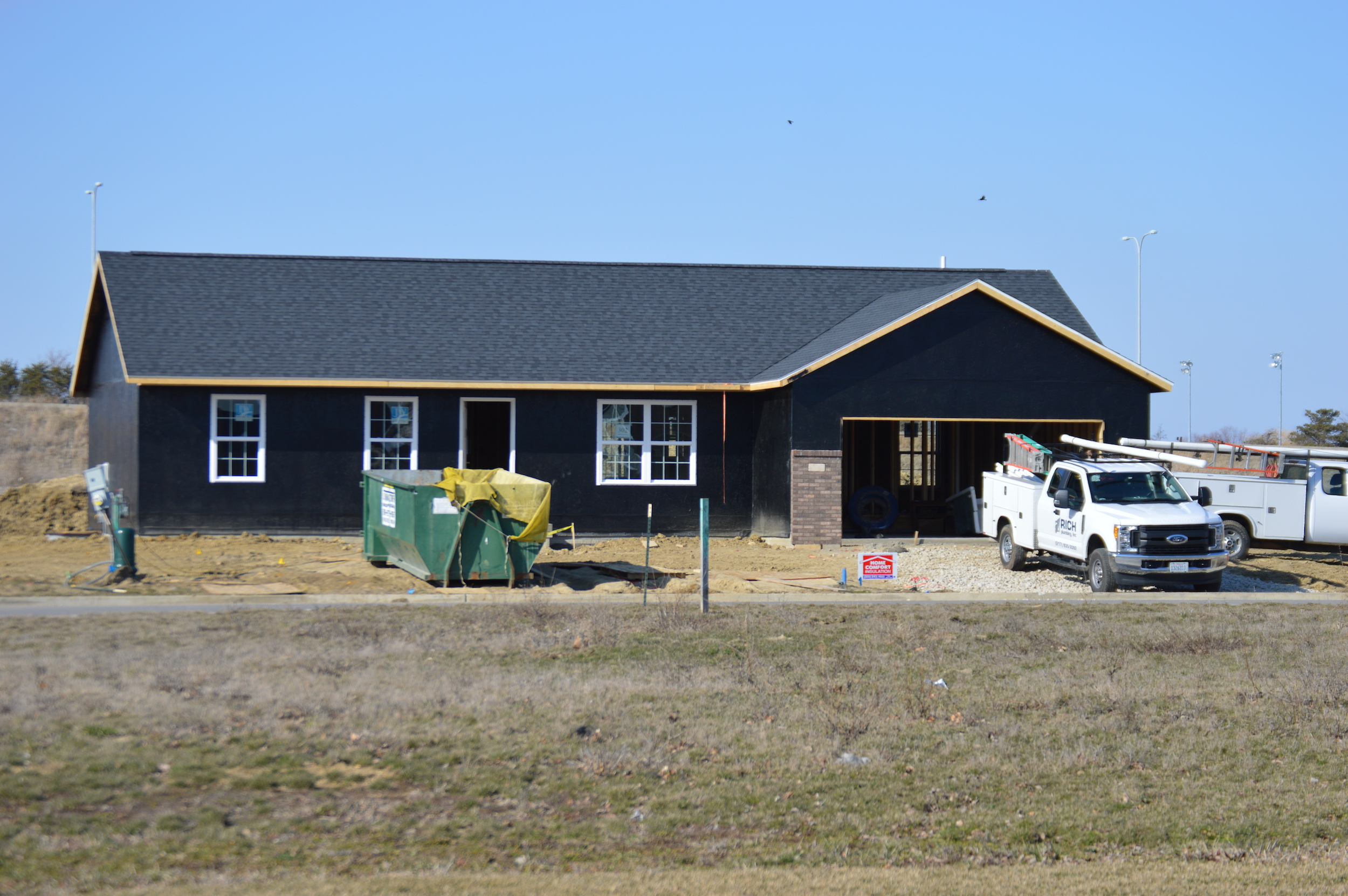 New construction home sales are down in Bloomington-Normal and across the nation as builders face challenges and buyers wait for more affordable options. (Image credit: Breanna Grow)