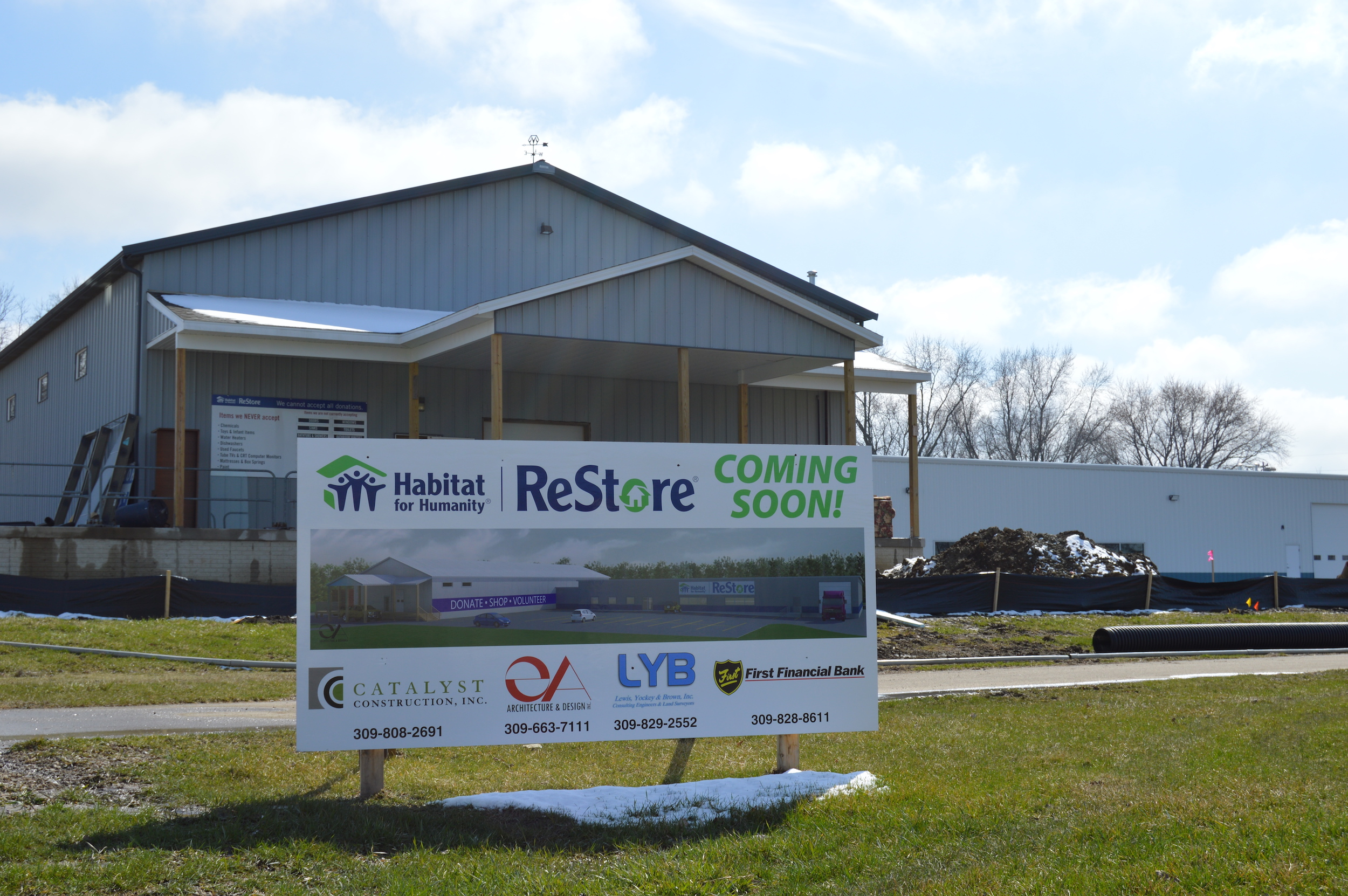Habitat launched its nearly $1M ReStore Renewal project in late 2016, including an expansion of retail space from 8,000 sq.ft. to 20,000 sq. ft. While the solar panel component is on hold, the rest of the ReStore Renewal project is still on schedule. (Image Credit: Breanna Grow)