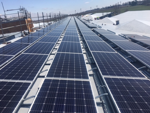 Over 1,000 kW of electricity will be generated by solar panels in the Olympia school district. (Image Credit: Olympia Superintendent Andrew Wise)