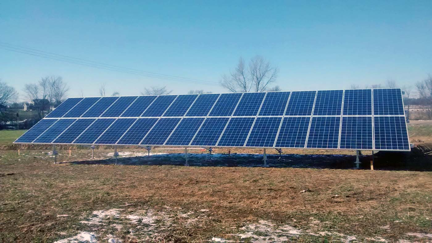 Downs resident Eric Marshall had a participated in the 2016 group solar buy program, purchasing a ground-mount solar array for his farm. The Ecology Action Center announced a second purchasing round earlier this week. (Photo: Ecology Action Center)