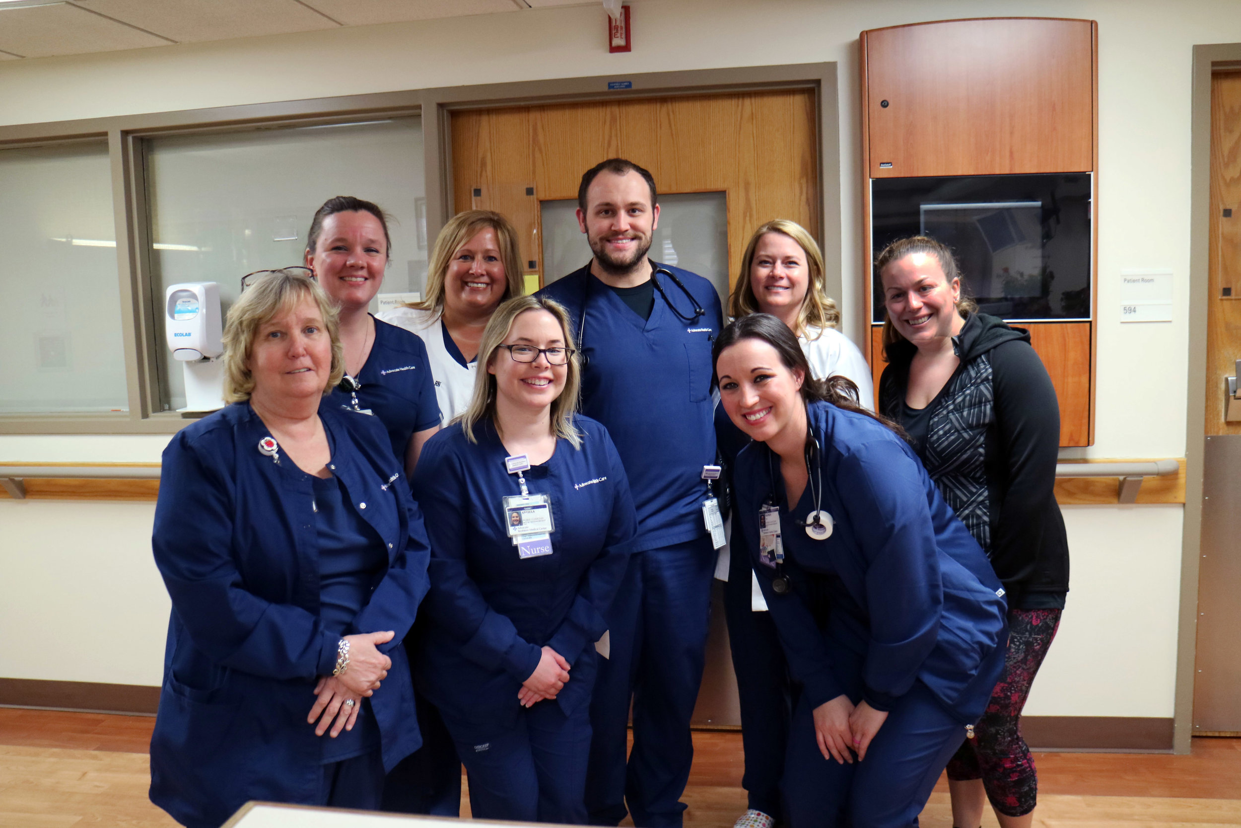 Normal's Advocate BroMenn Medical Center was named among the 2018 Best Places to Work in Healthcare by a leading industry magazine. Pictured: staff from the Medical-Oncology Specialty Unit at BroMenn. (Photo: Advocate BroMenn Medical Center)