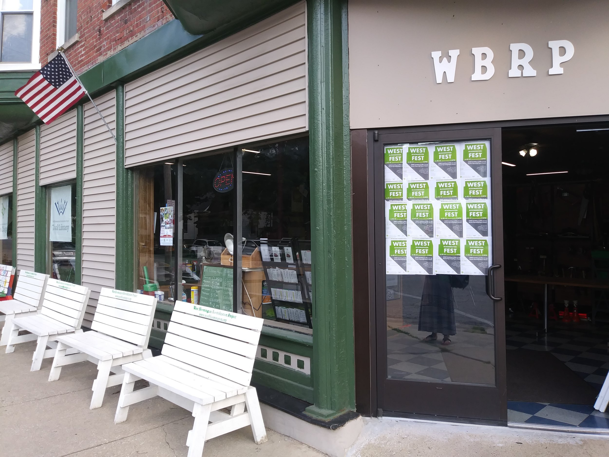West Bloomington Revitalization Project's new headquarters on West Washington Street. (Photo: Breanna Grow/AdaptBN)