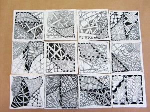 All 12 students combined their tiles to create a beautiful mosaic.