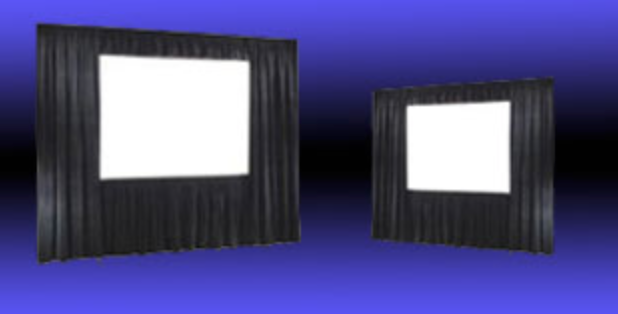 DA LITE FAST FOLD SCREENS - 6-16' FRONT / REAR PROJECTIONDRAPE KITS & SKIRTING AVAILABLE