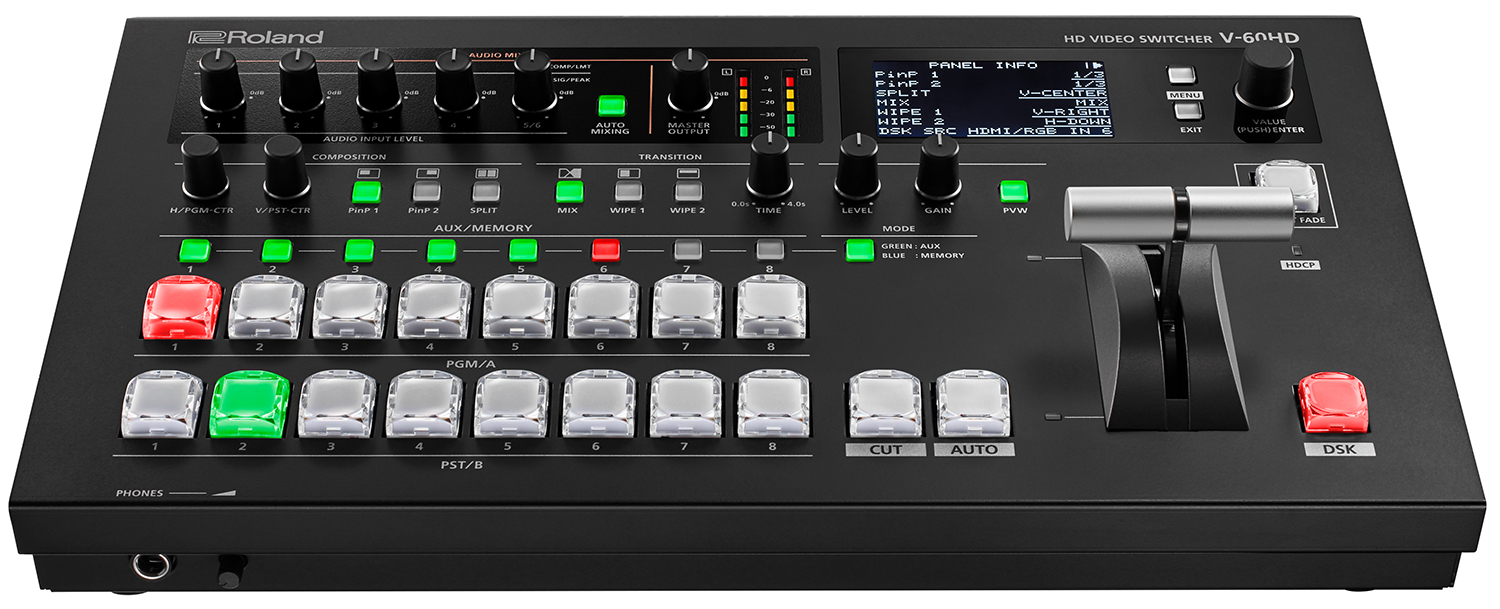 ROLAND V60 HD - 8 CHANNEL 1080P VIDEO SWITCHER
