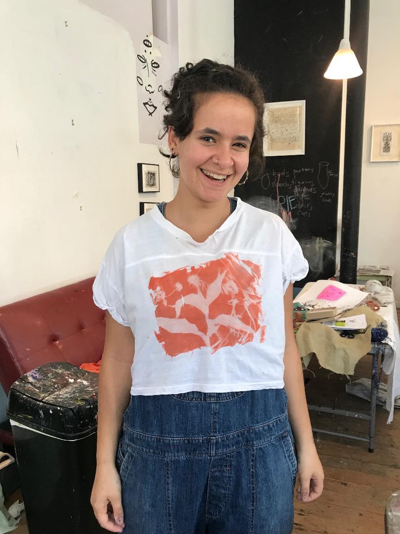 Make a sun print t-shirt Friday July 5th 2-6! -